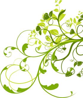 green-flowers-illust