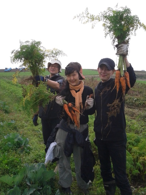 農業体験@くりもと地球村の報告