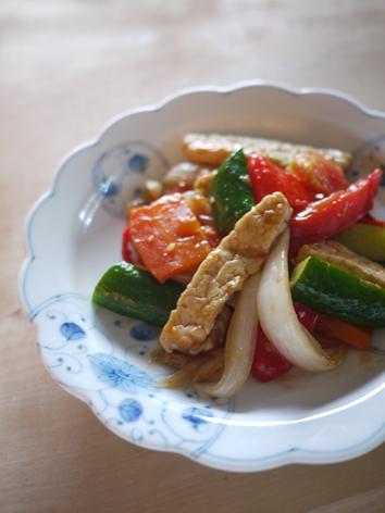 テンペの酢豚(ベジ、マクロビ料理)