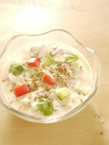 ライタ(豆乳ヨーグルトメニュー、インド料理