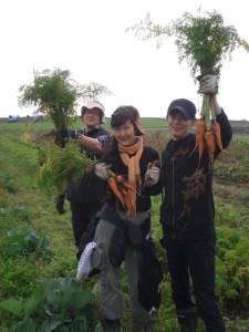 2013.11.3ルナの農業体験イベント@くりもと地球村