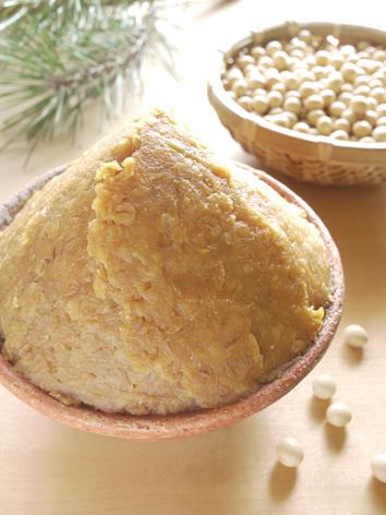 麦味噌と大豆